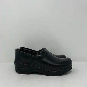 Dansko Black Leather Clogs